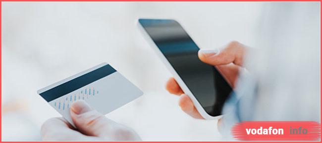 как пополнить счет Водафон банковской картой