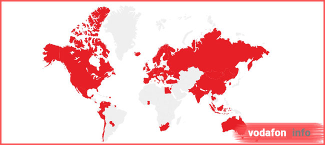 Vodafone звонки за границу 62 страны
